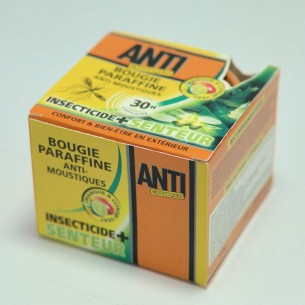Bougie insecticide anti-moustiques mangue et citron vert