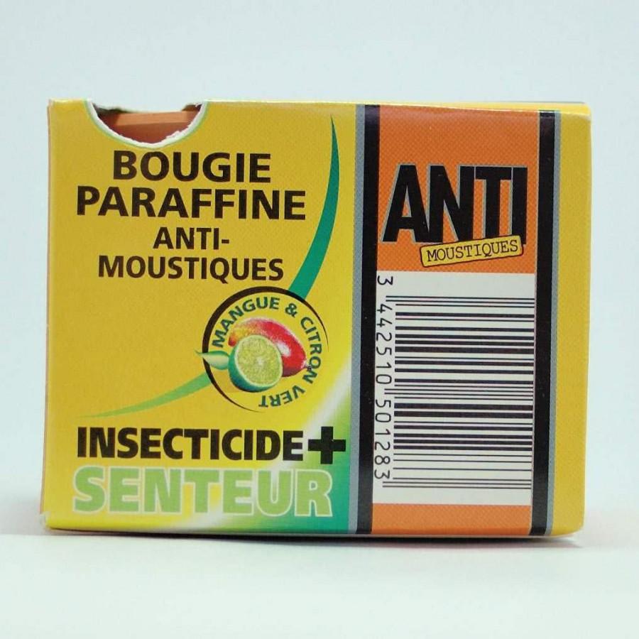 bougie parafine insecticide et senteur anti. Black Bedroom Furniture Sets. Home Design Ideas