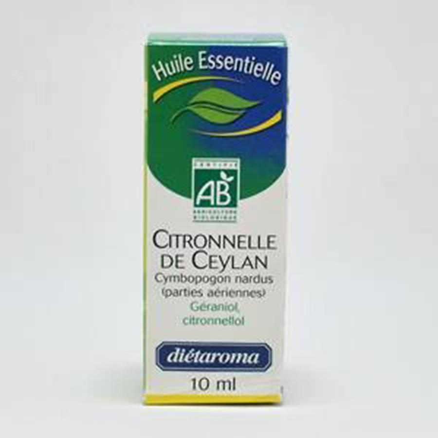 Huile essentielle citronelle de ceylan bio 10ml dietaroma - Huile essentielle anti fourmis ...