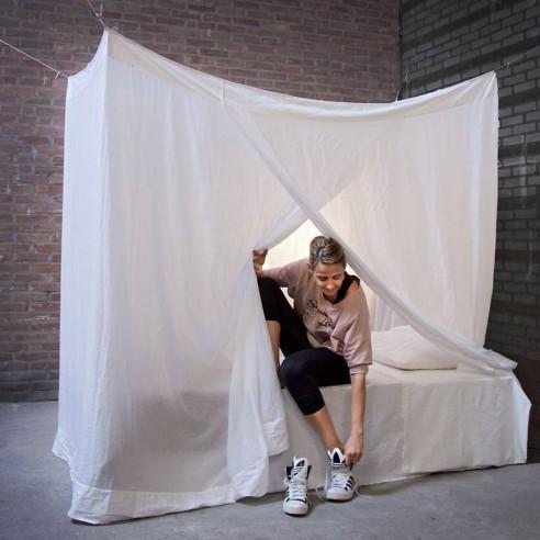 Moustiquaire de lit en coton rectangulaire