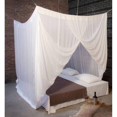 Moustiquaire de lit en coton rectangulaire double