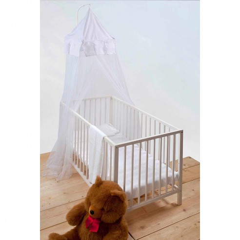 Moustiquaire lit bébé Castle - blanche