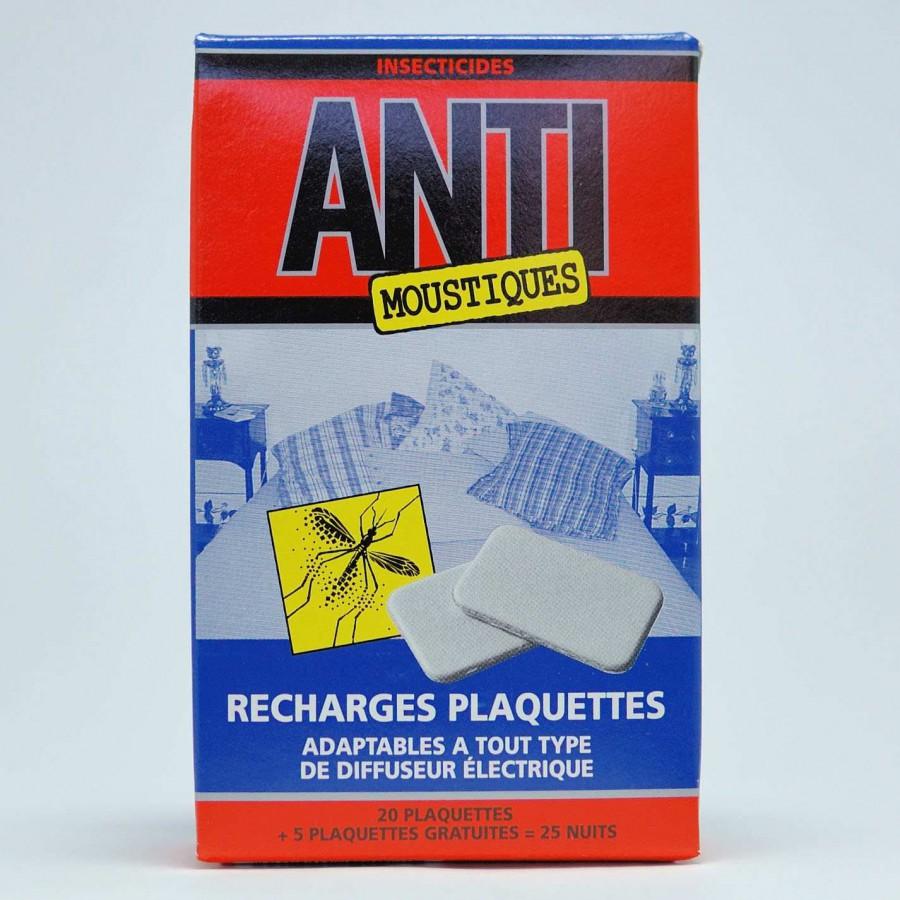recharge plaquettes pour diffuseurs lectriques anti moustique. Black Bedroom Furniture Sets. Home Design Ideas