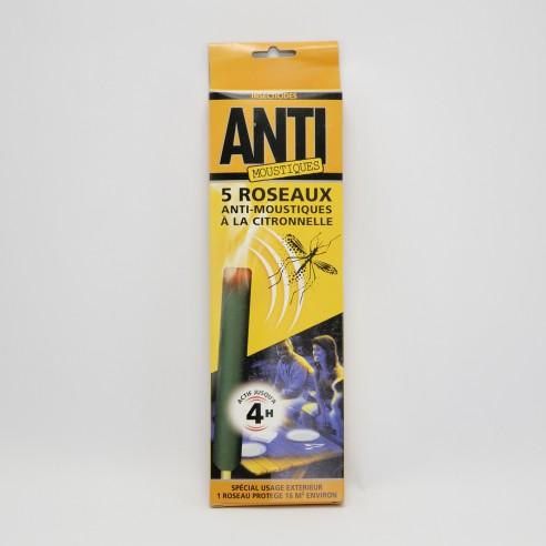 Roseaux anti moustiques parfumés à la citronnelle
