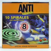 10 spirales anti-moustiques ANTI