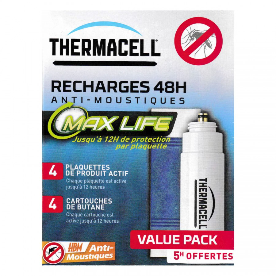 recharge 48h max thermacell anti moustiques. Black Bedroom Furniture Sets. Home Design Ideas