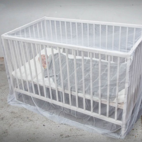 Moustiquaire pour lit bébé non imprégnée
