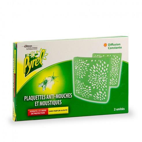 Plaquette Pyrel anti-mouches et moustiques