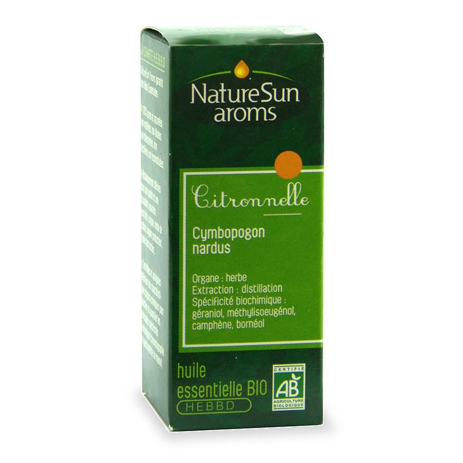 Citronnelle 10ml naturesun aroms - Repulsif fourmi huile essentielle ...