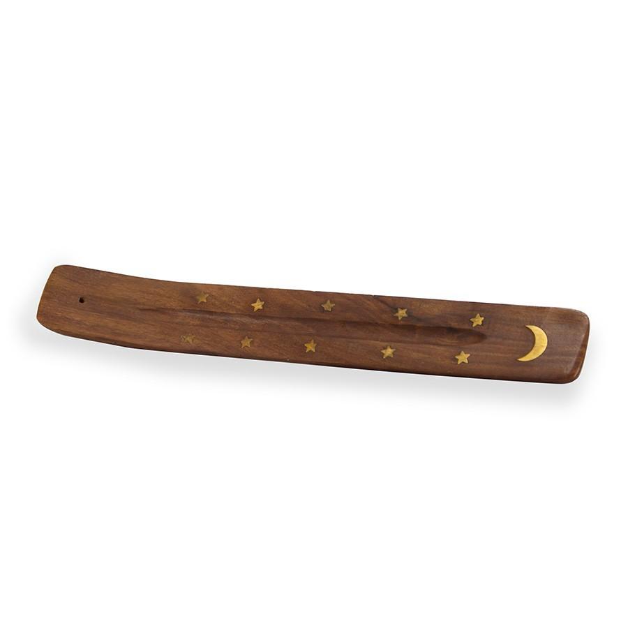 Porte encens en bois et laiton for Porte bougie en bois