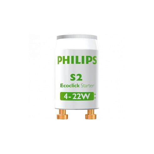 Starter S2 4-22W Philips pour tube fluorescent