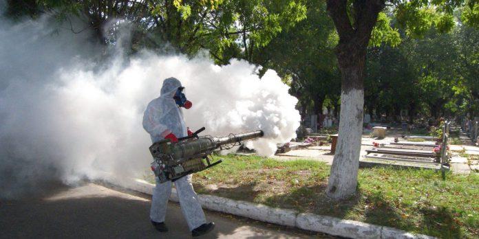 Nebulisation d'un parc