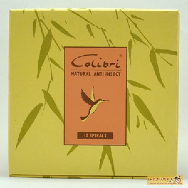 Spirales Colibri anti-moustiques aux huiles essentielles