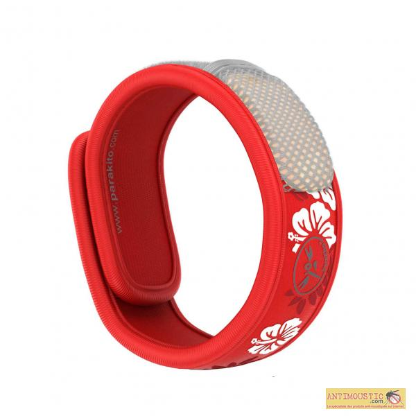 Bracelet anti-moustique Para'Kito Graffic Hawaï Rouge